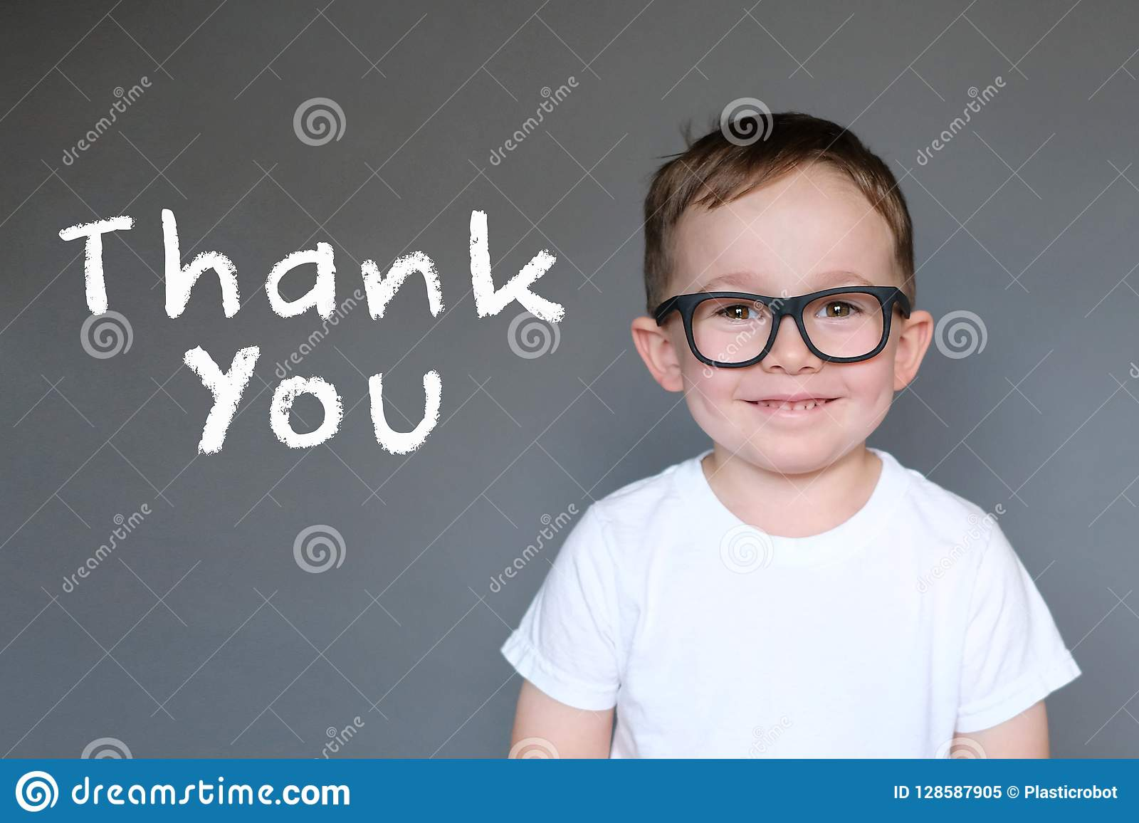 Cute Kid with a Thank You message