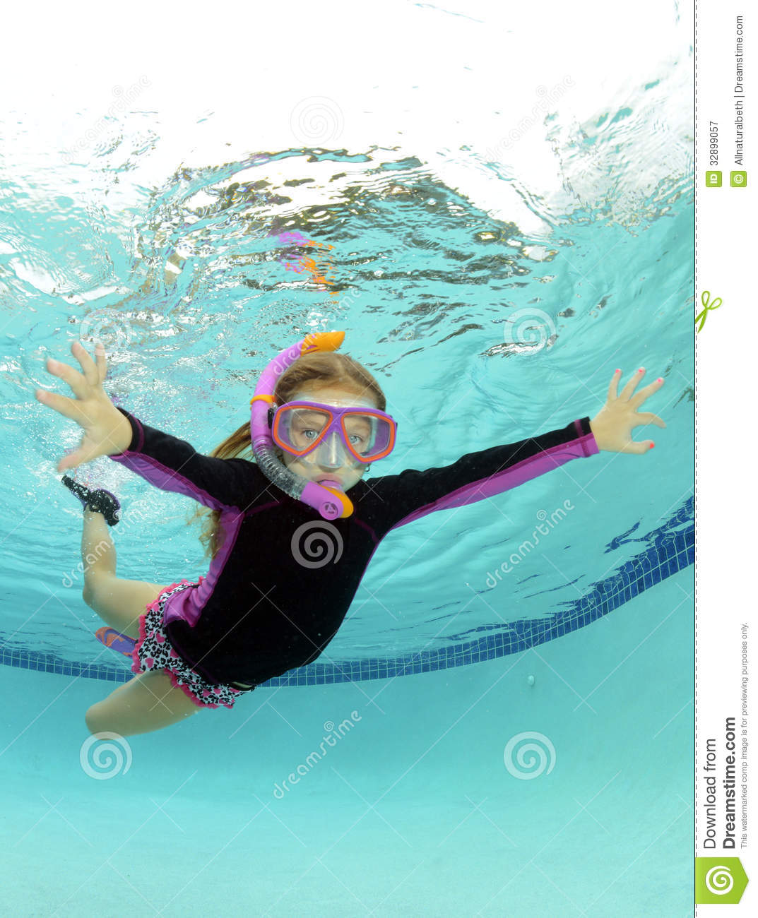 Cute kid underwater in pool stock image image 32899057 for Wetherby swimming pool swim times