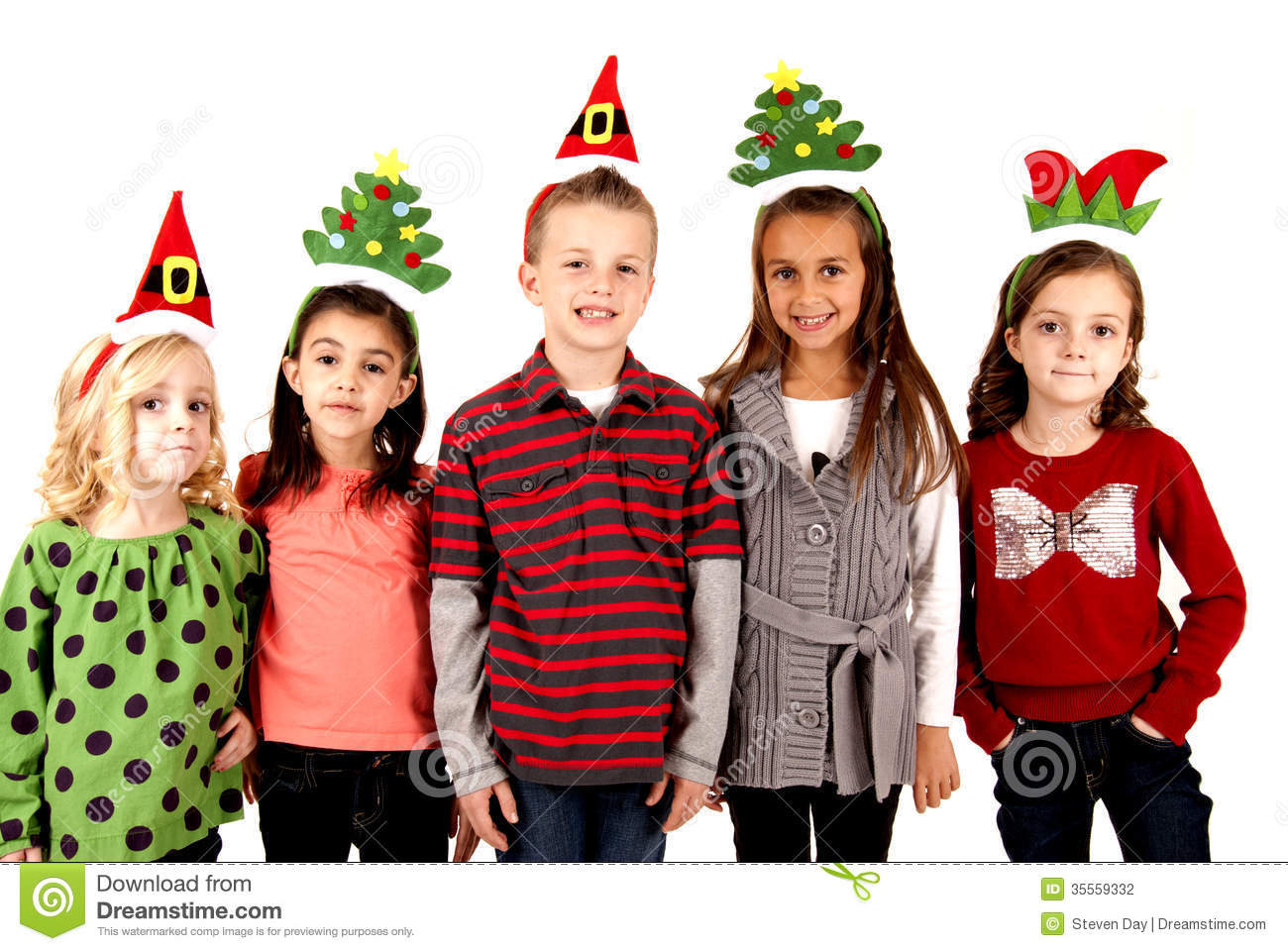 Cute Kids In Funny Holiday Hats