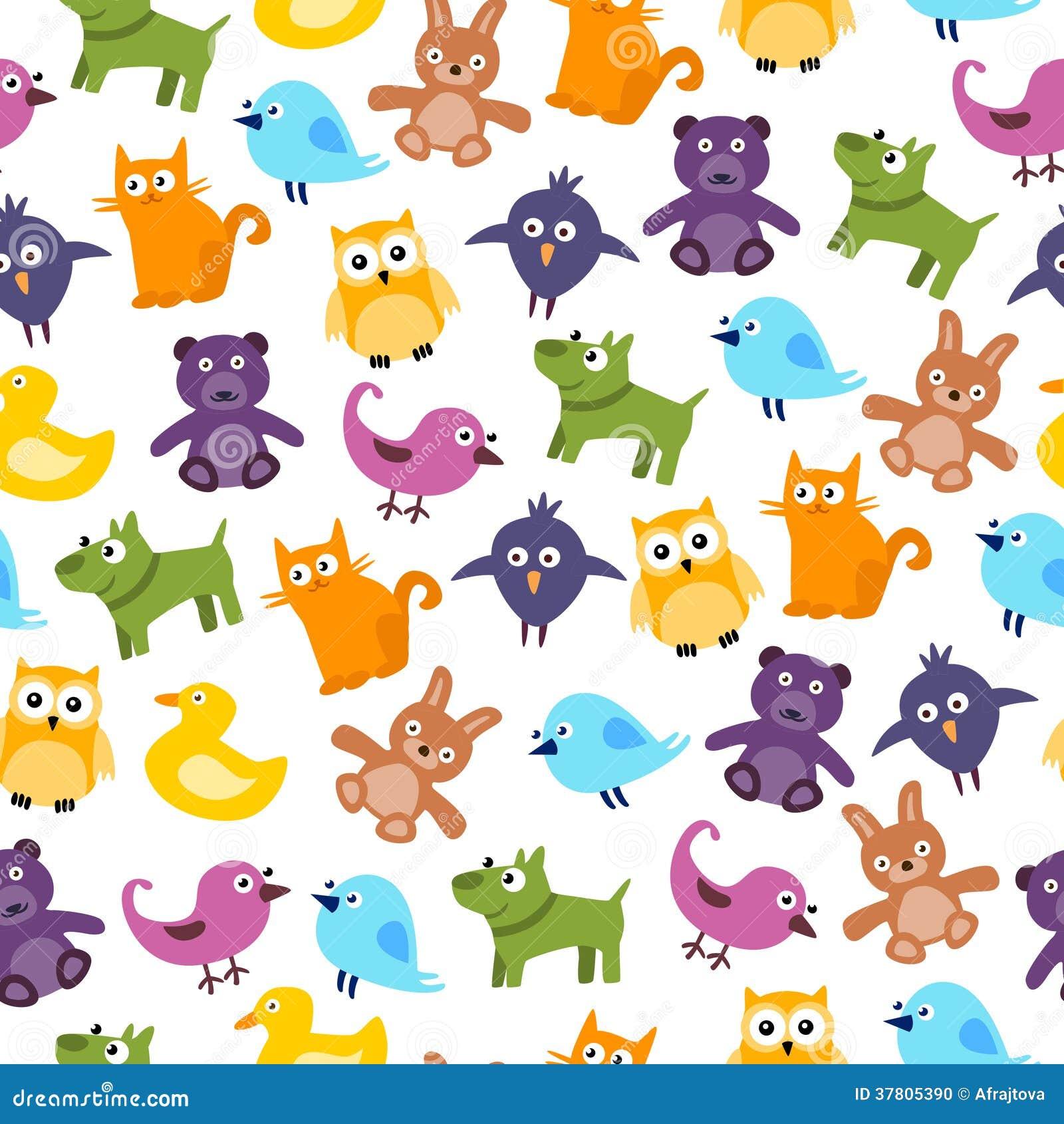 cute kids pattern - Kids Cartoon Animals