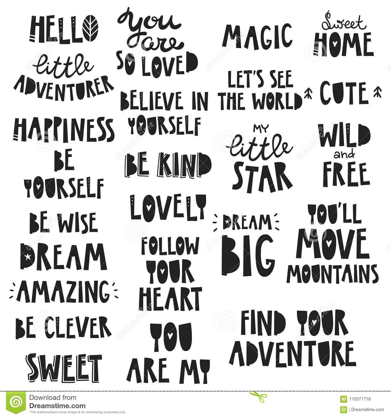 Cute Kids Phrases For Baby Room Greeting Card Print On The Wall