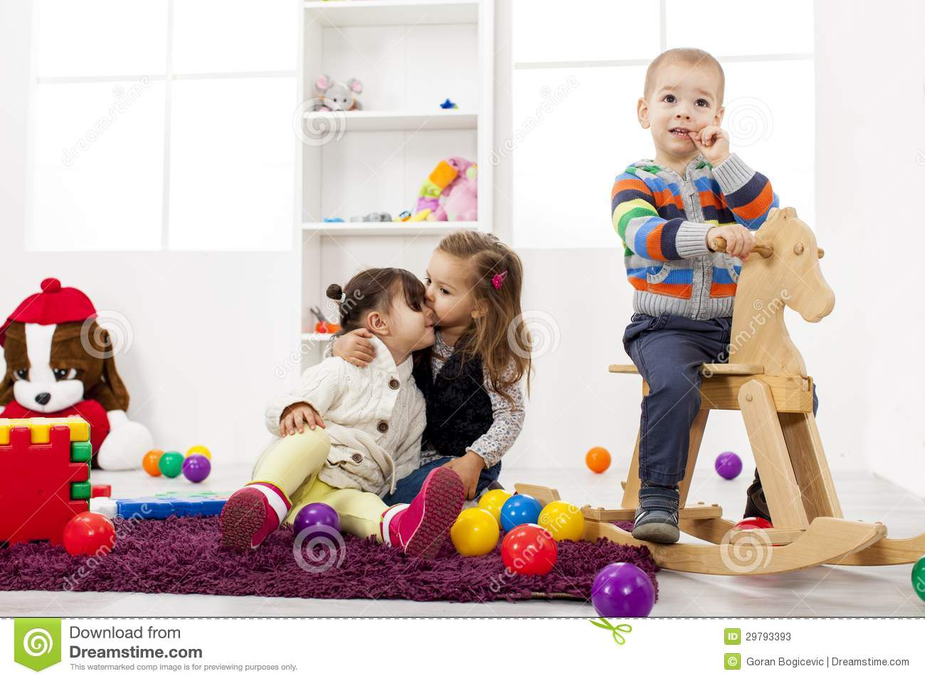 Childcare Floor Plans Kids Playing In The Room Stock Photos Image 29793393