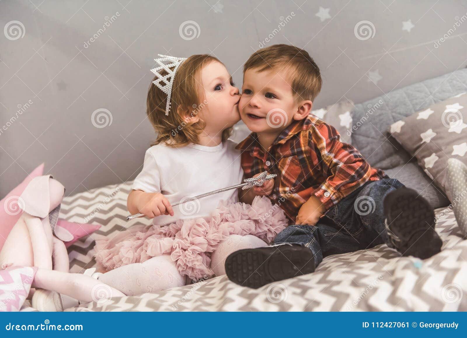 Cute Couple Of Kids Stock Image Image Of Child Cheek 112427061