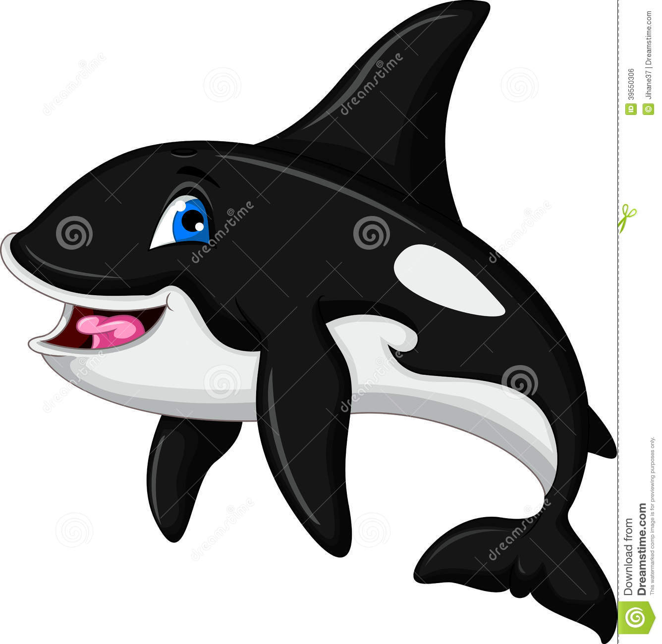 Cute Killer Whale Cartoon Stock Illustration - Image: 39550306