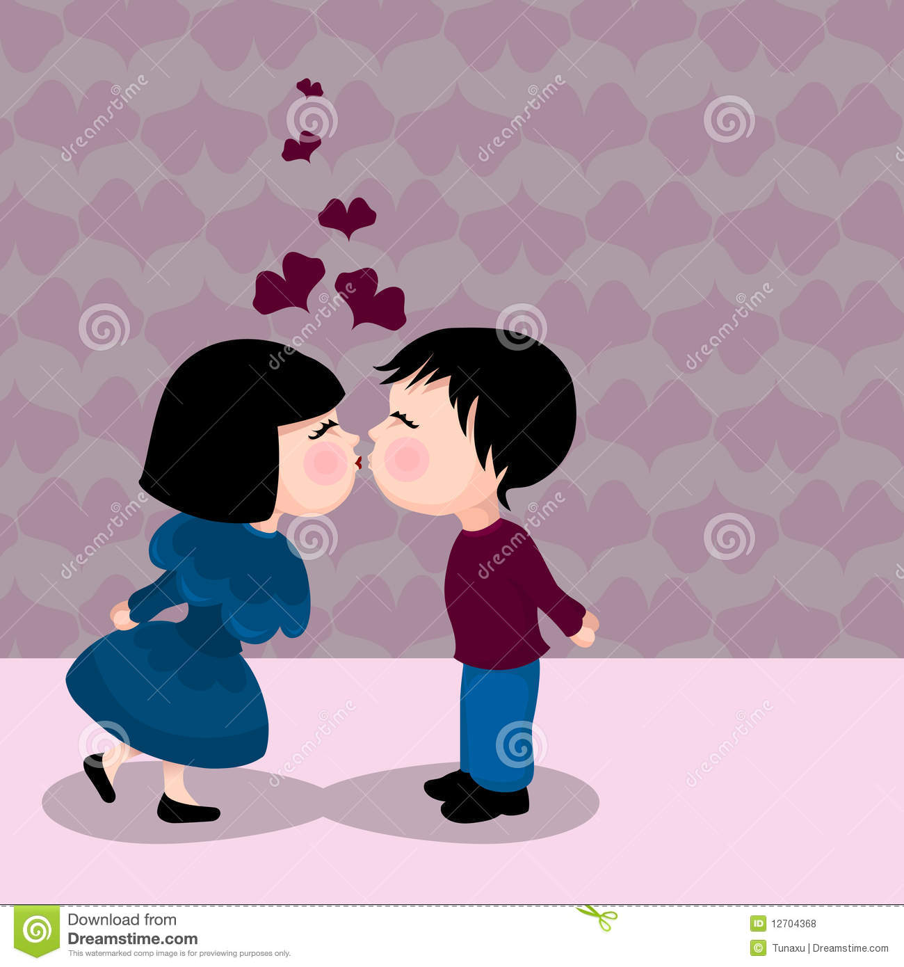 Cute Kissing Couple Royalty Free Stock Photos Image