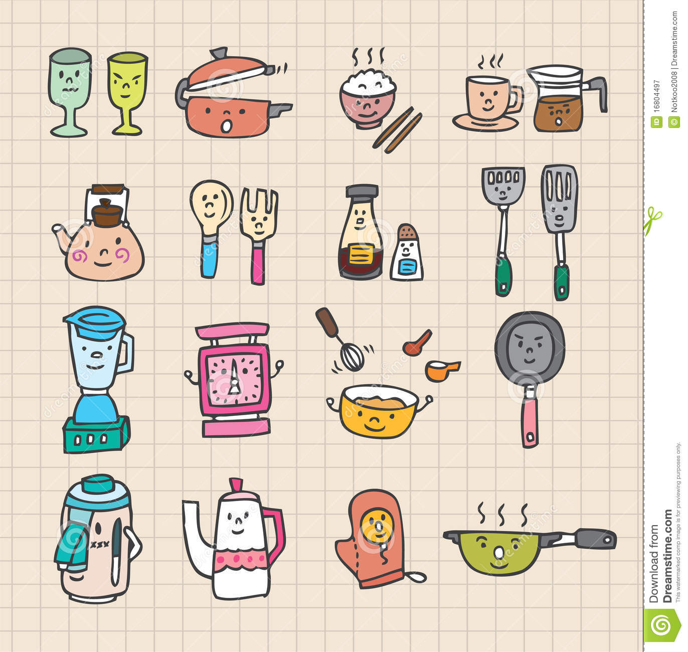 Cute Kitchen Element Stock Vector Illustration Of Candle