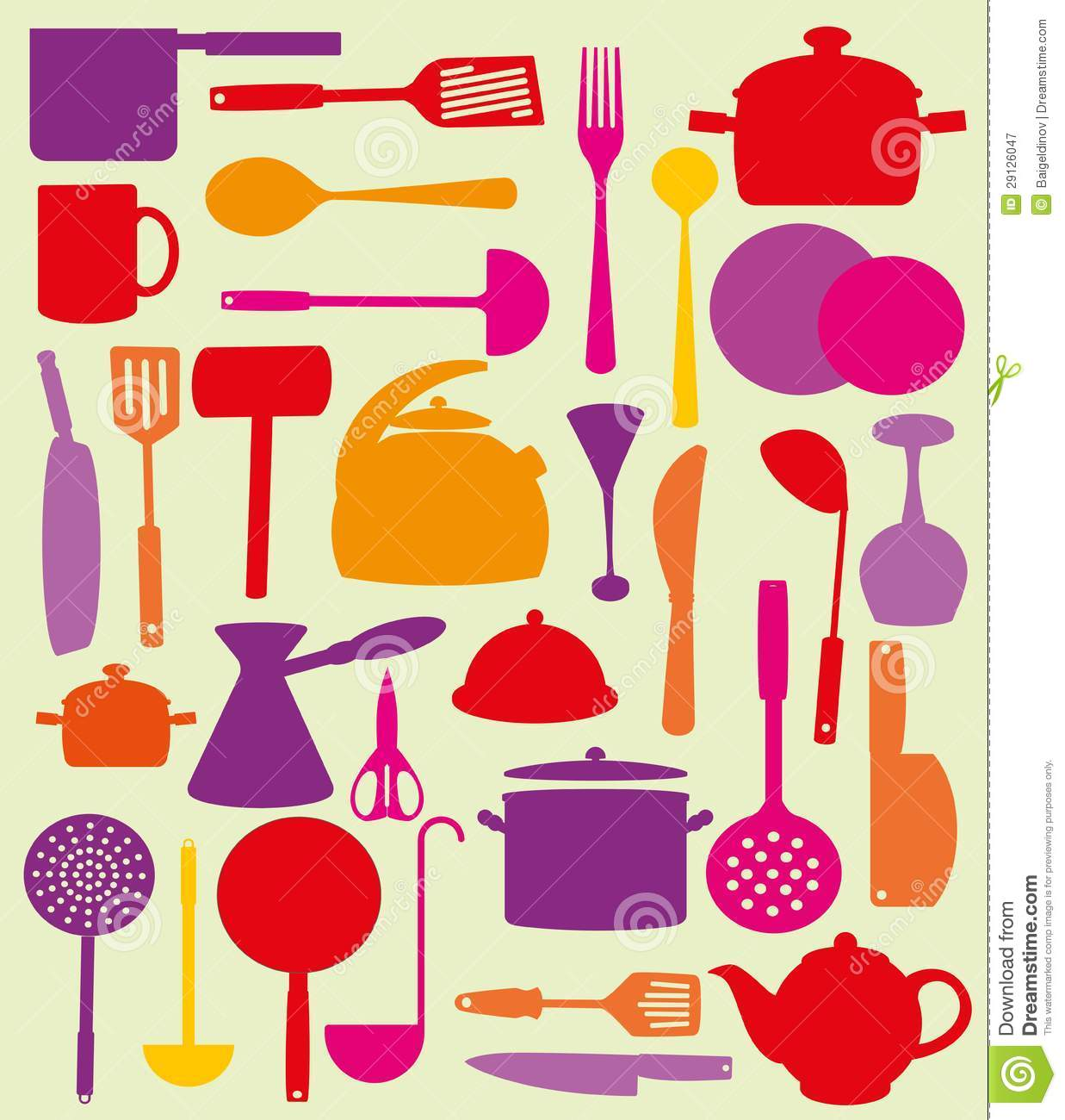 Cute Kitchen Cute Kitchen Pattern Stock Photo Image 29126100