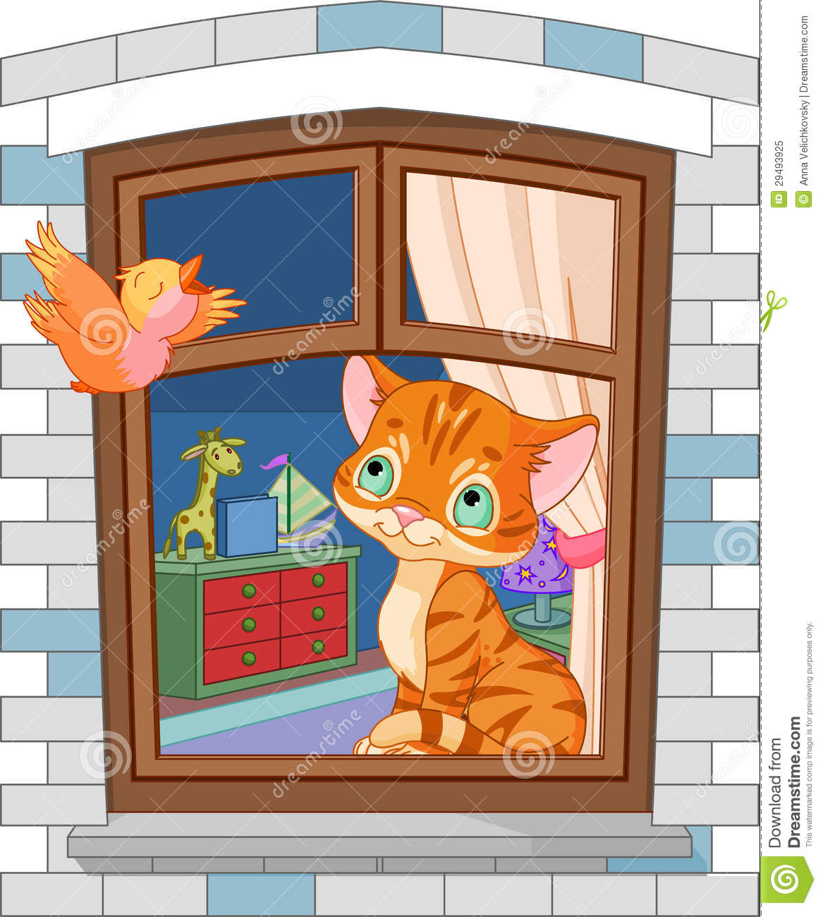 Cute kitten sitting on the window royalty free stock photo for 2 little birds sat on my window