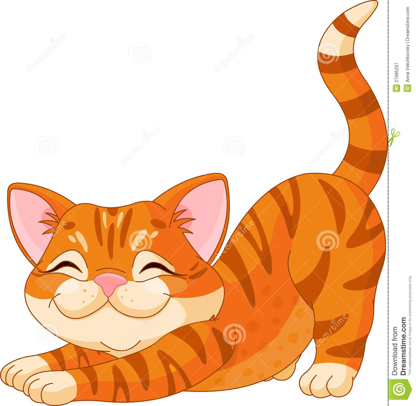 cute kitten stretching royalty free stock photography   image