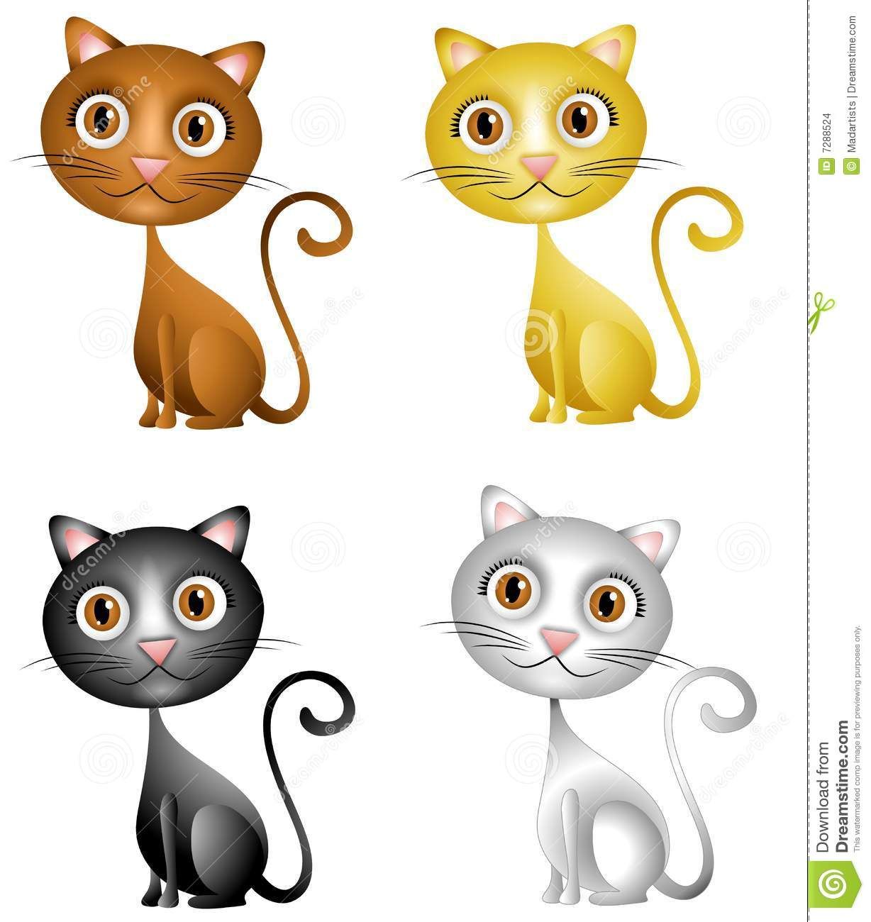 cute kittens clip art stock illustration illustration of white rh dreamstime com Kick Clip Art Cute Kitten Clip Art