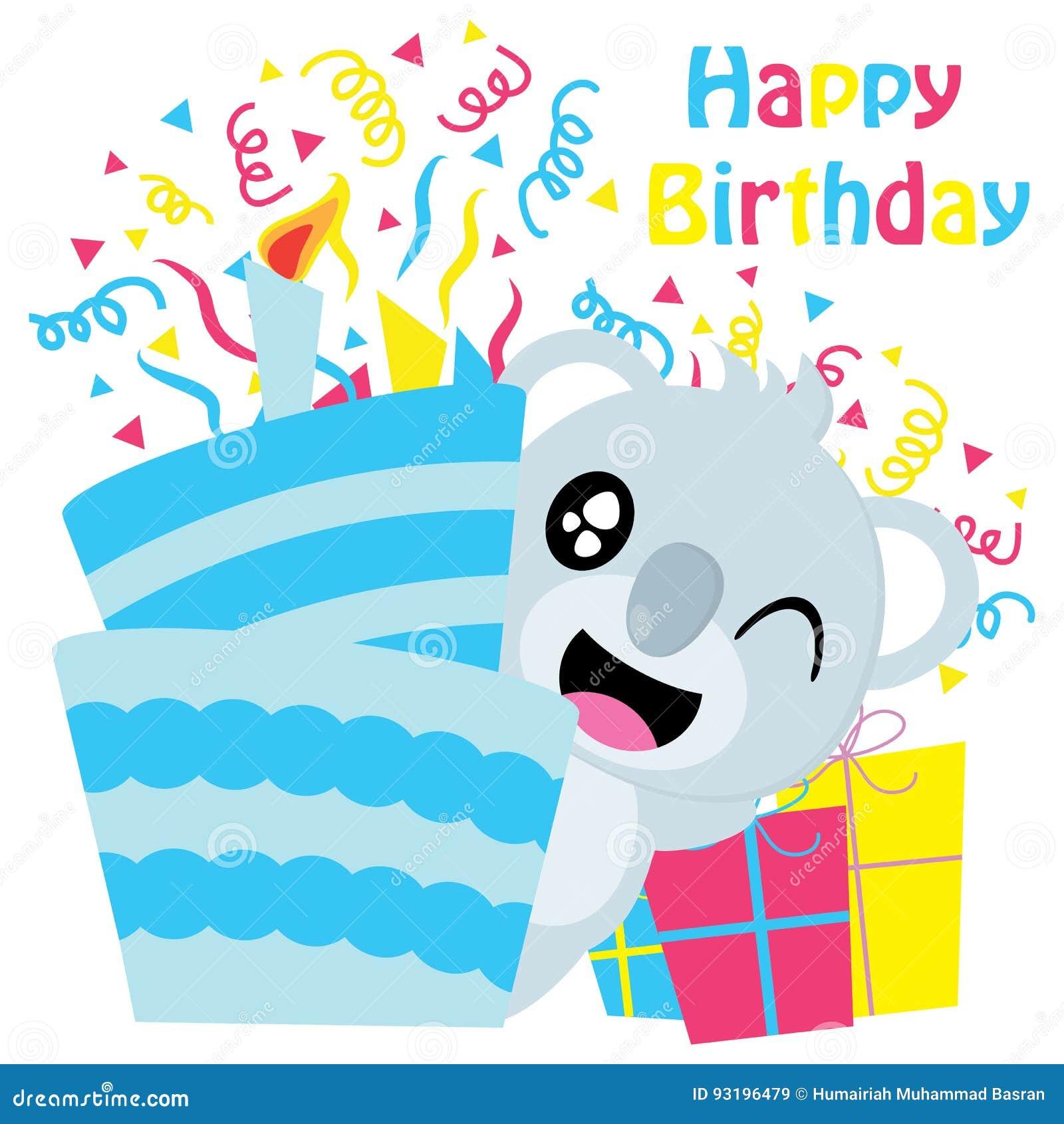 Fabulous Cute Koala Besides Birthday Cakes Cartoon Birthday Postcard Funny Birthday Cards Online Hetedamsfinfo