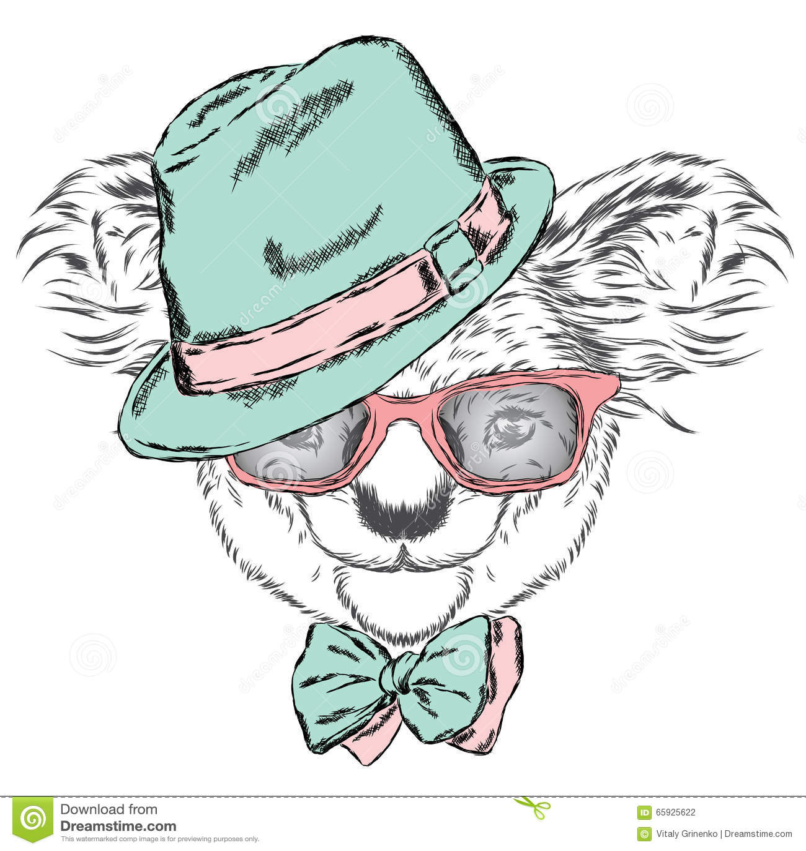 Cartoon Koala Wearing Glasses