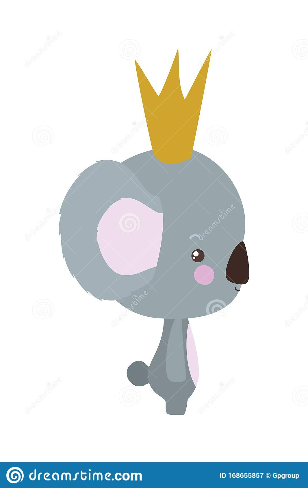 Cute Koala Cartoon With Crown Vector Design Stock Vector Illustration Of Conceptual Koala 168655857 Free for commercial use no attribution required high quality images. dreamstime com