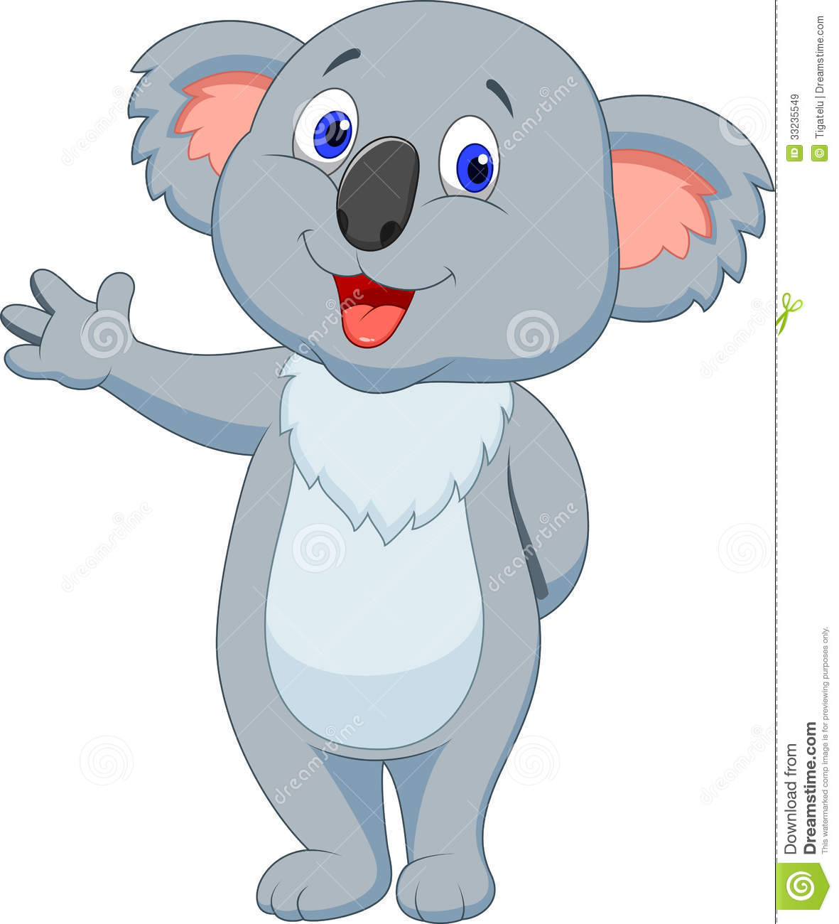 cute koala cartoon hand waving royalty free stock images image