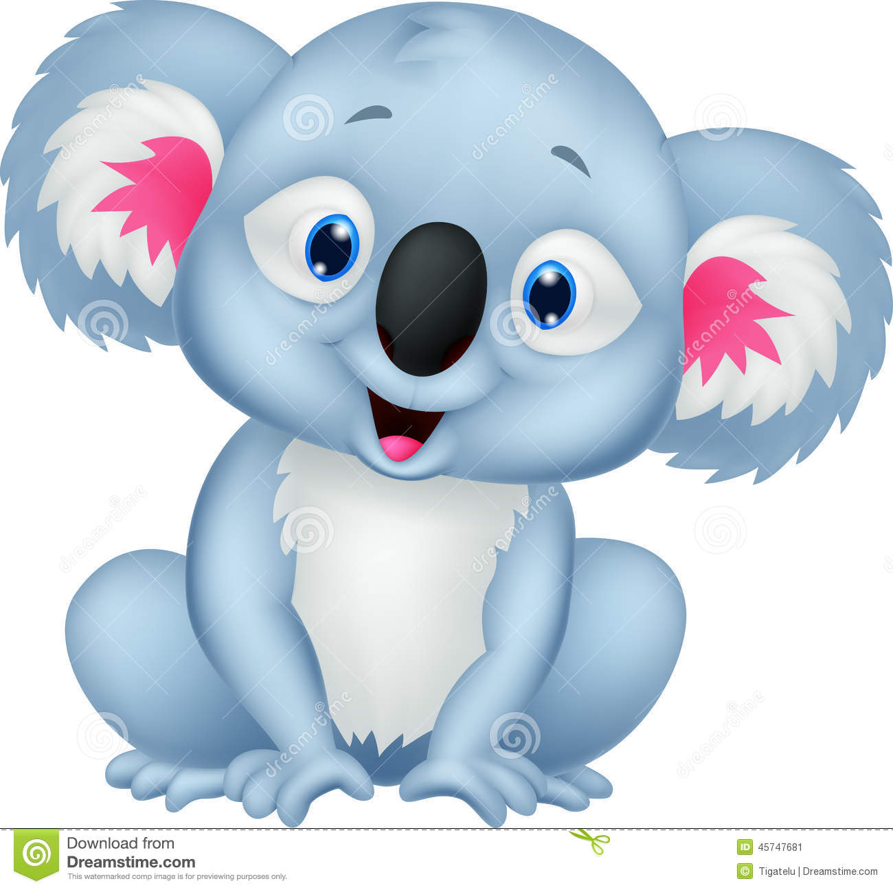 Cute Koala Cartoon Stock Vector - Image: 45747681