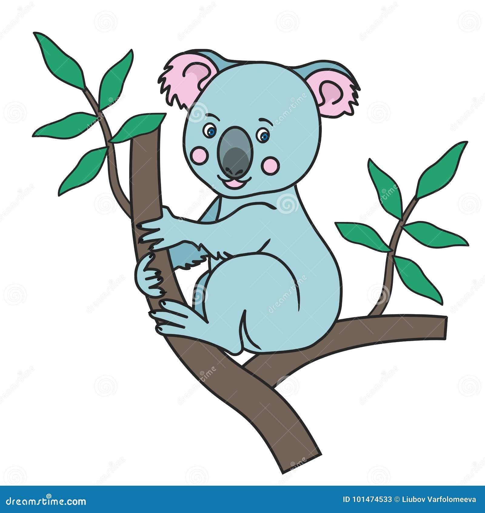 Cute Koala Print Stock Vector Illustration Of Flat 101474533