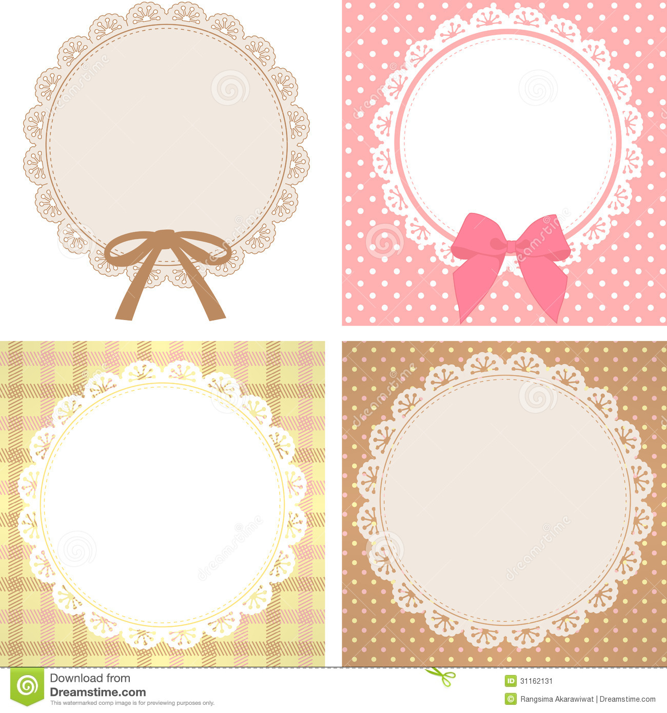 Cute Lace Pattern Stock Image Image 31162131