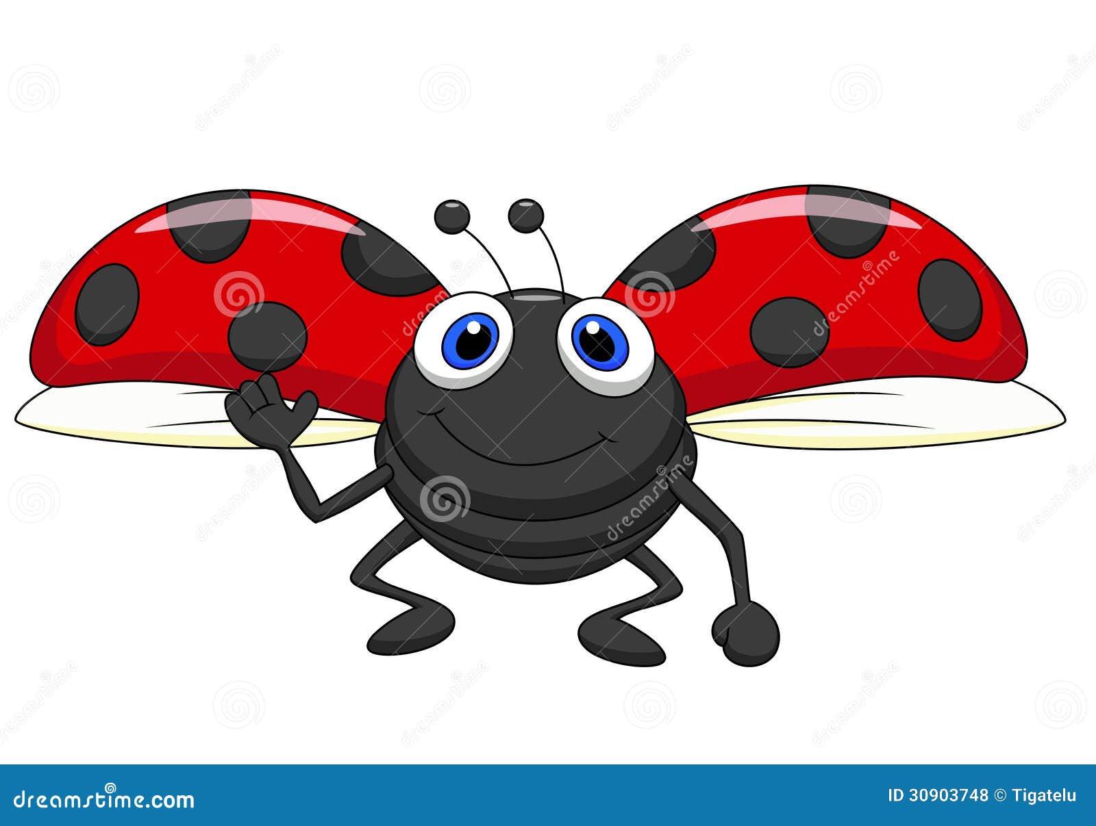 Cute Ladybug Cartoon Flying Royalty Free Stock Photos - Image ...