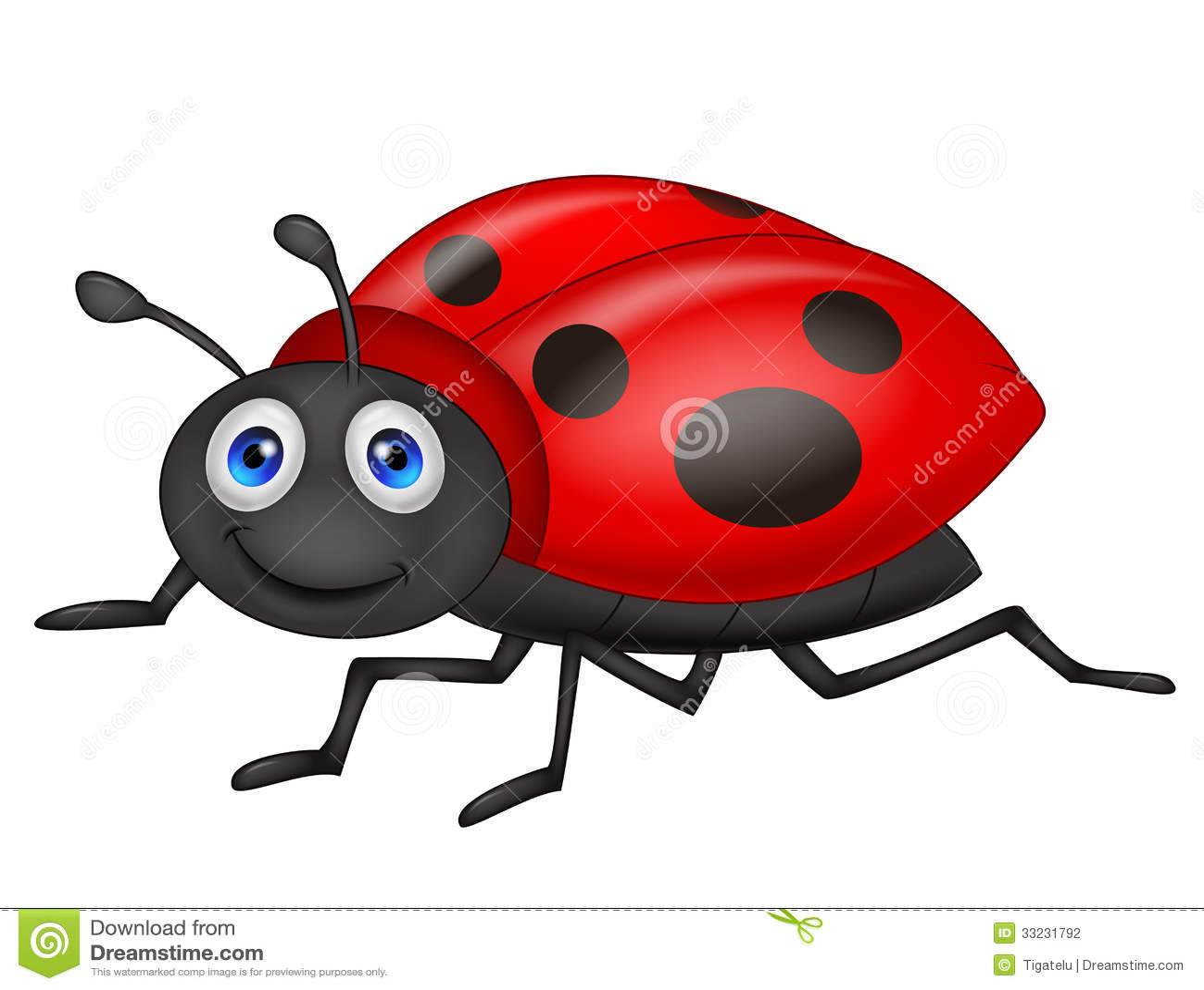 Cute Ladybug Cartoon Stock Photography - Image: 33231792