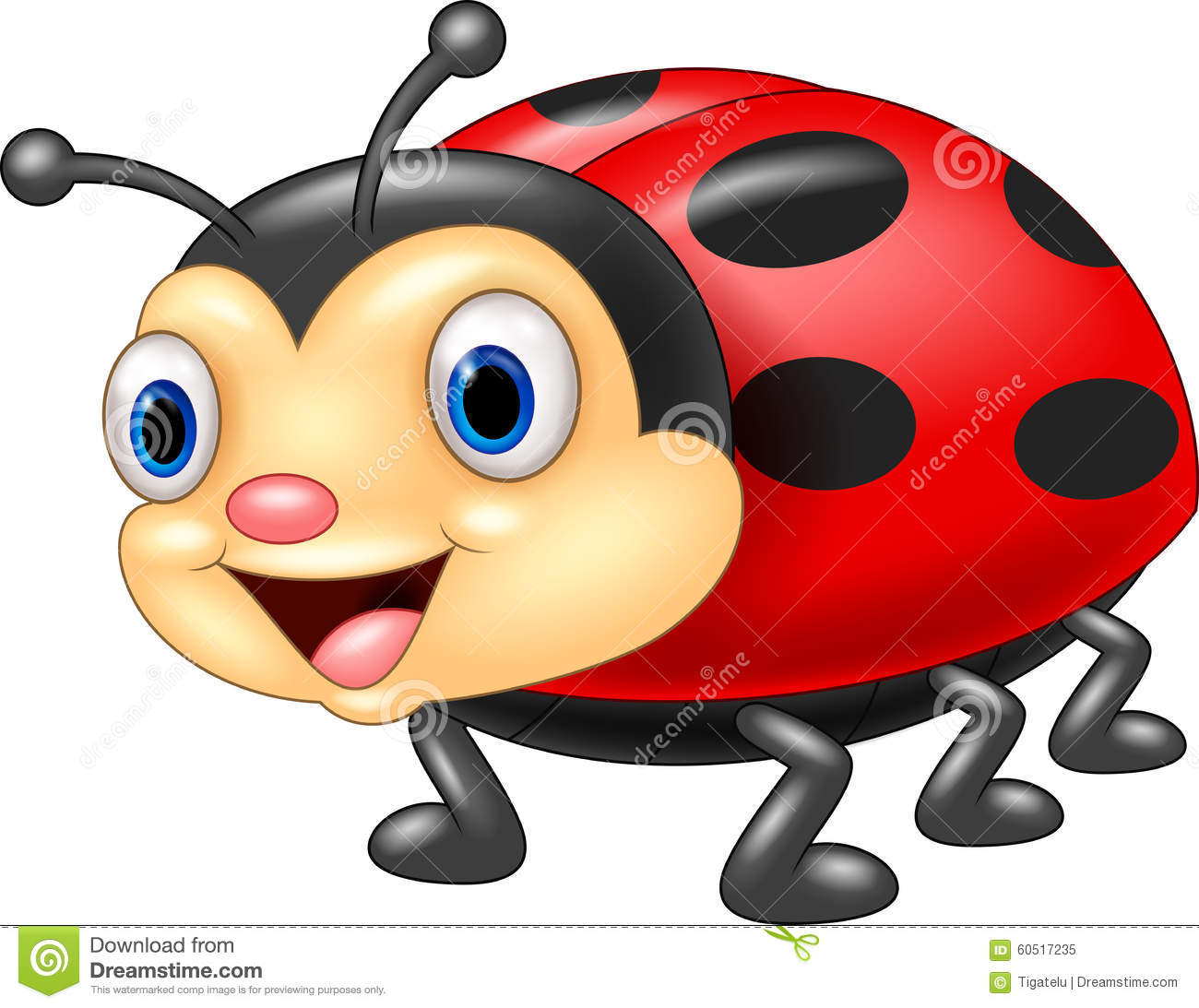 A Cartoon Ladybug cute ladybug cartoon stock vector. illustration of cheerful