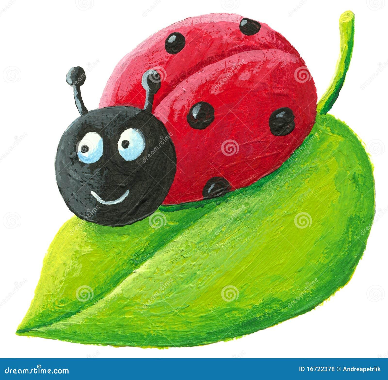 Cute Ladybug Green Leaf Stock Illustrations – 586 Cute Ladybug Green ... for Clipart Ladybug On Leaf  34eri