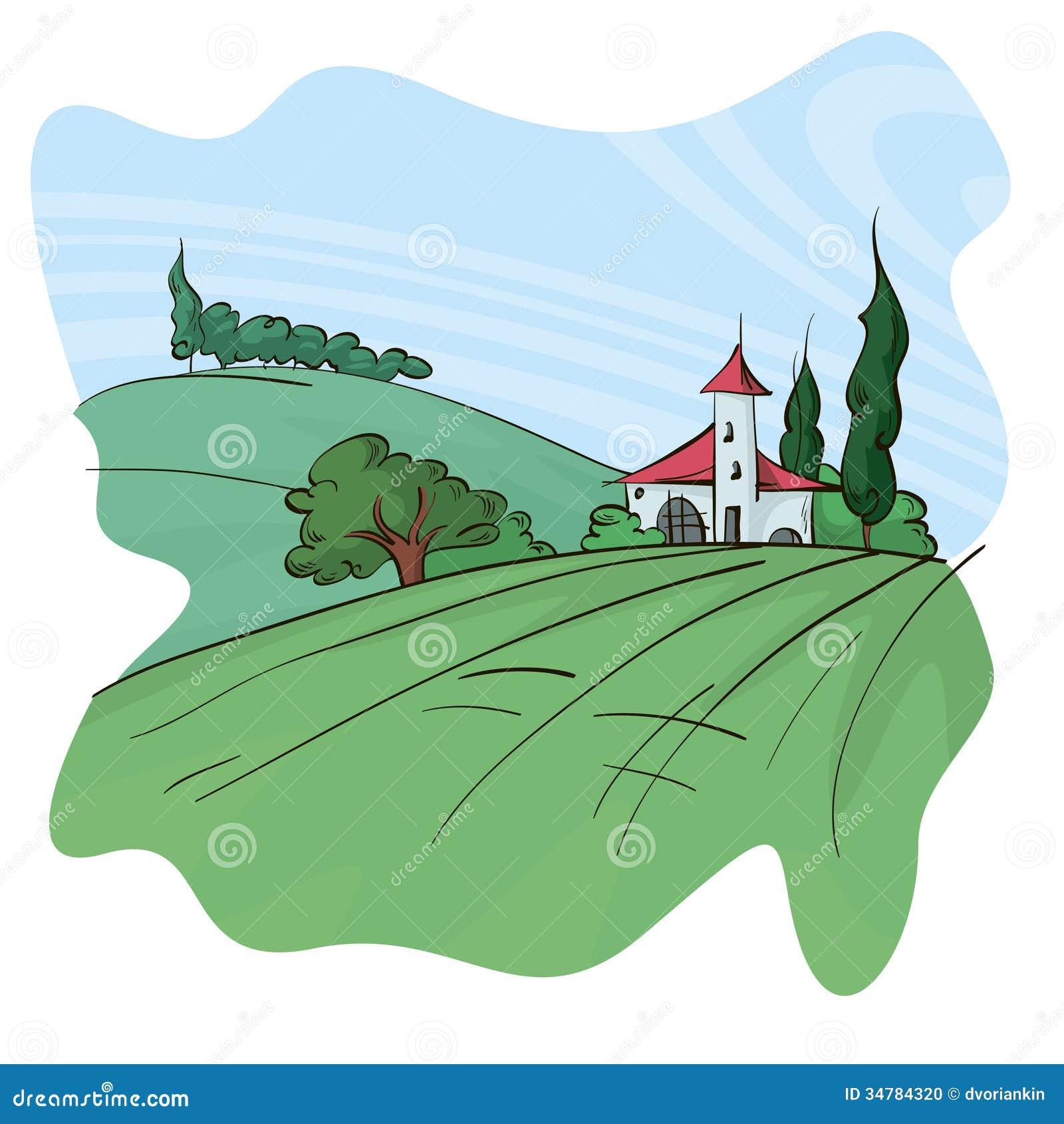 Cute Landscape Stock Photo Image 34784320