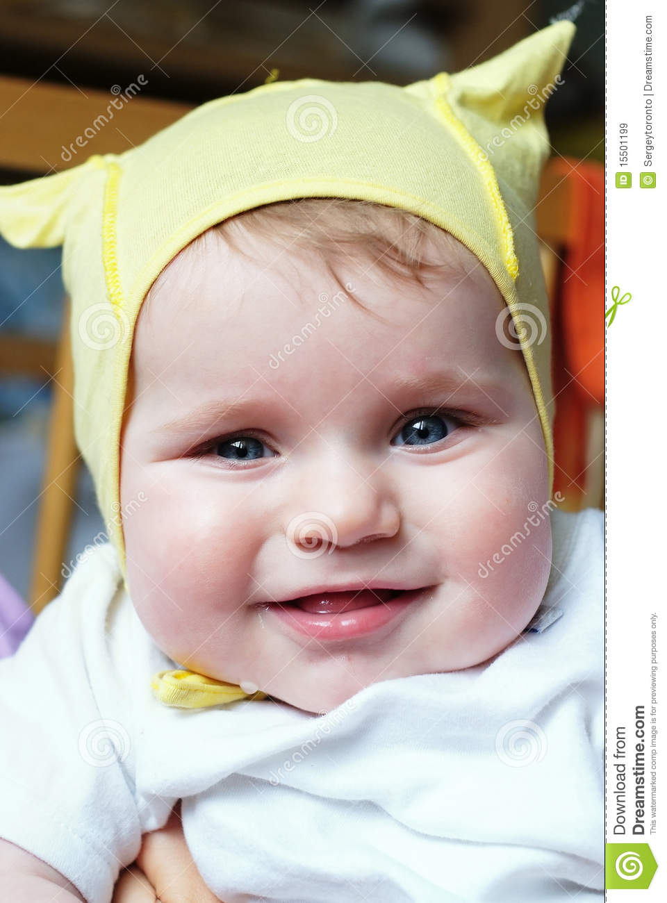 Cute laughing baby stock image. Image of holdhug, loving ...