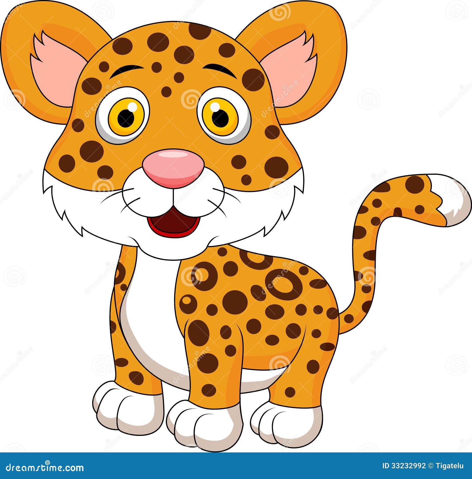 Cute Leopard Cartoon Stock Photography Image 33232992