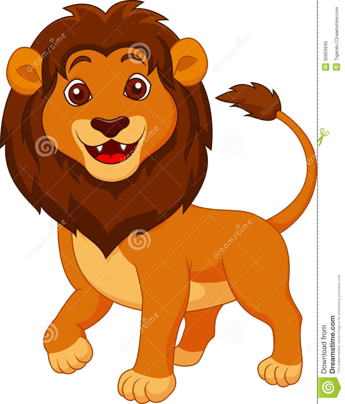 Cute Lion Cartoon Royalty Free Stock Photo Image 30903945