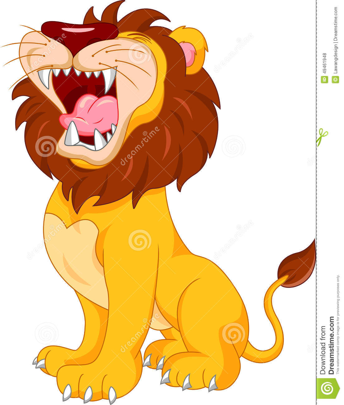 Cute Lion Cartoon Stock Vector - Image: 49461948