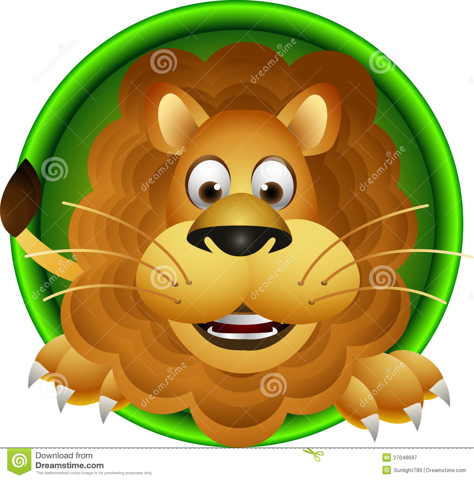 Lion cartoon head - photo#11