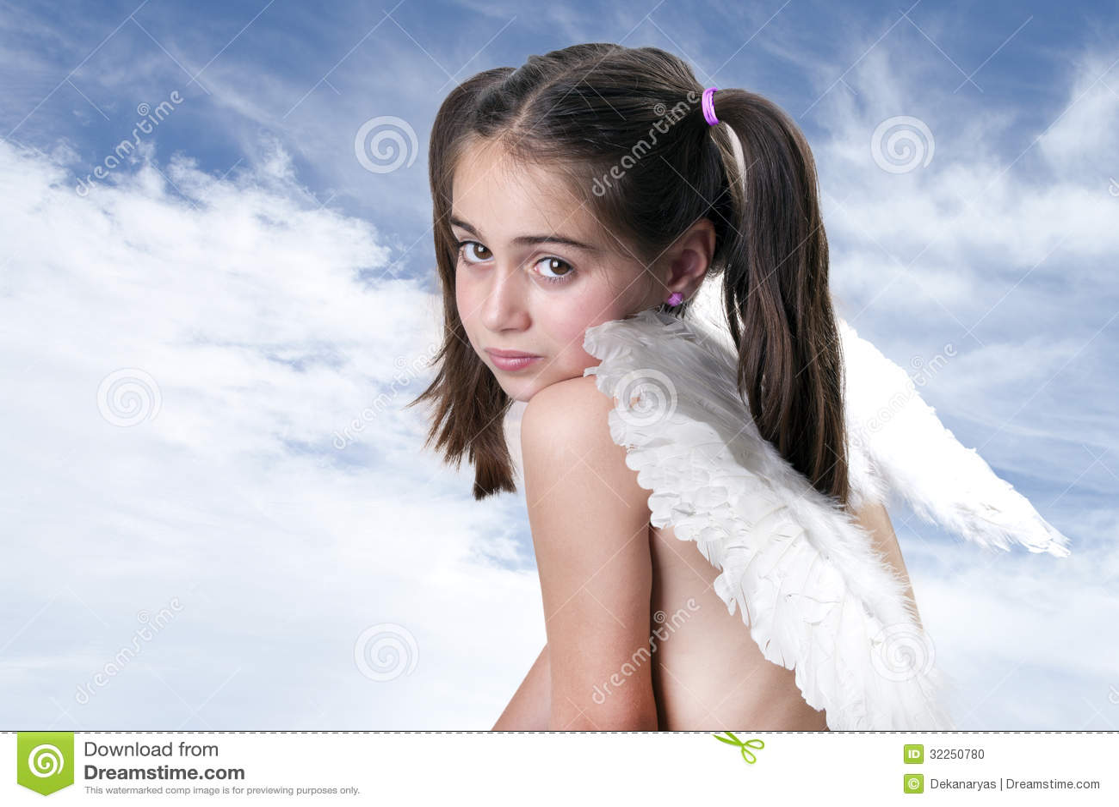 cute little angel stock photo   image 32250780