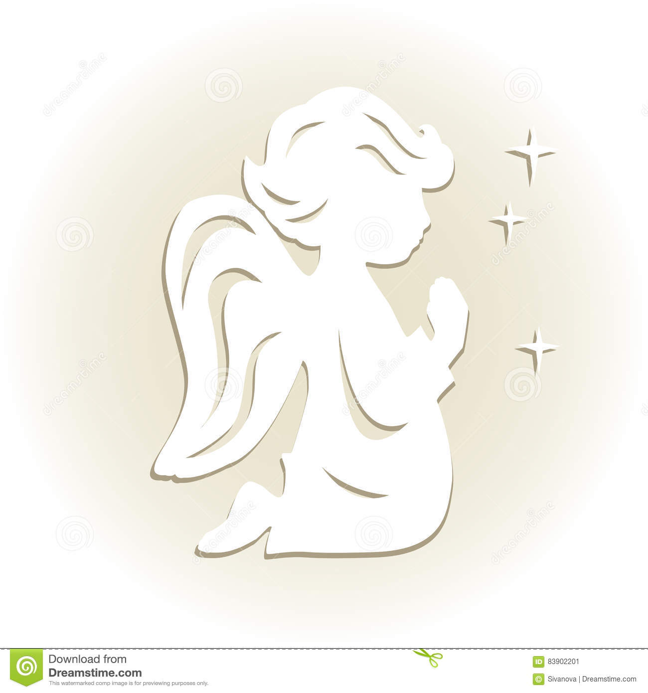 Cute Little Angel Stock Vector Illustration Of Dress Jpg 1300x1390 Cut Out