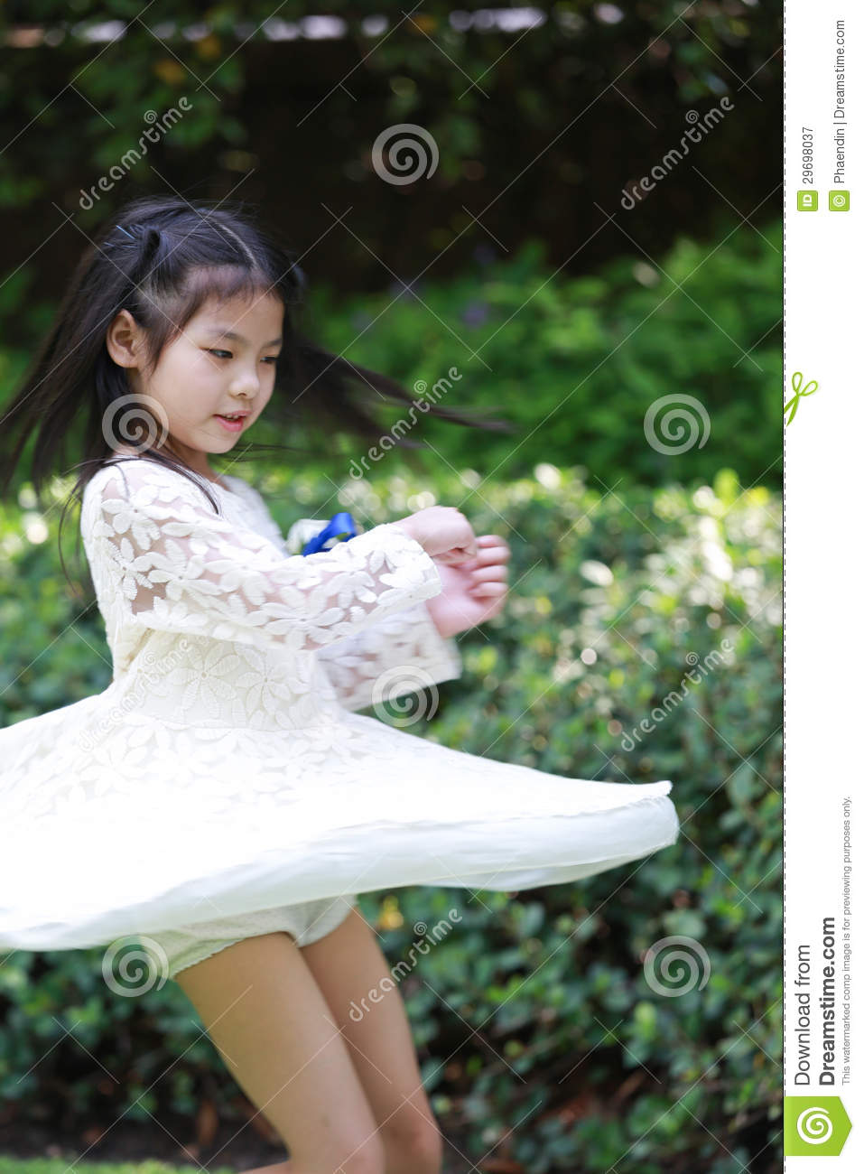 Asian girl dancing joy