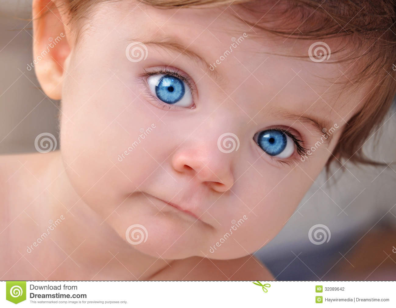Cute Little Baby Blue Eyes Closeup Portrait Stock ... Bright Blue Eyes Close Up Tumblr