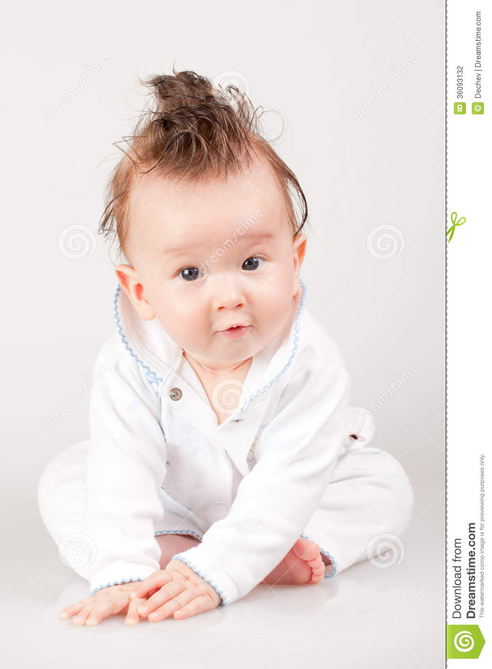 Cute Little Baby Boy Stock Photo Image Of Haircut Punk