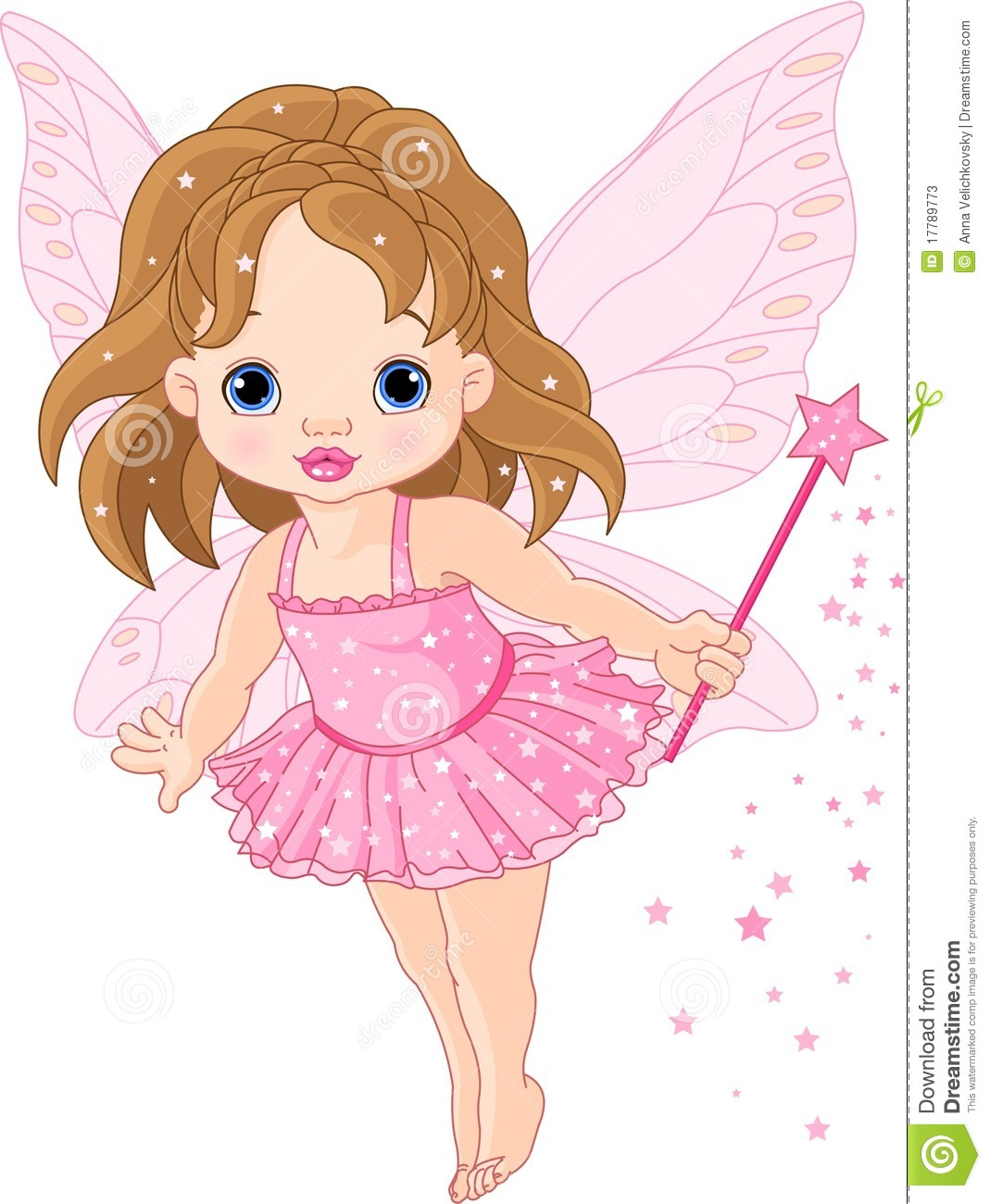 Cute little baby fairy stock vector. Illustration of ...