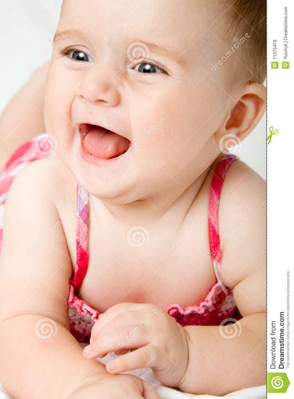 cute little baby girl stock image. image of grow, parenthood - 11375419