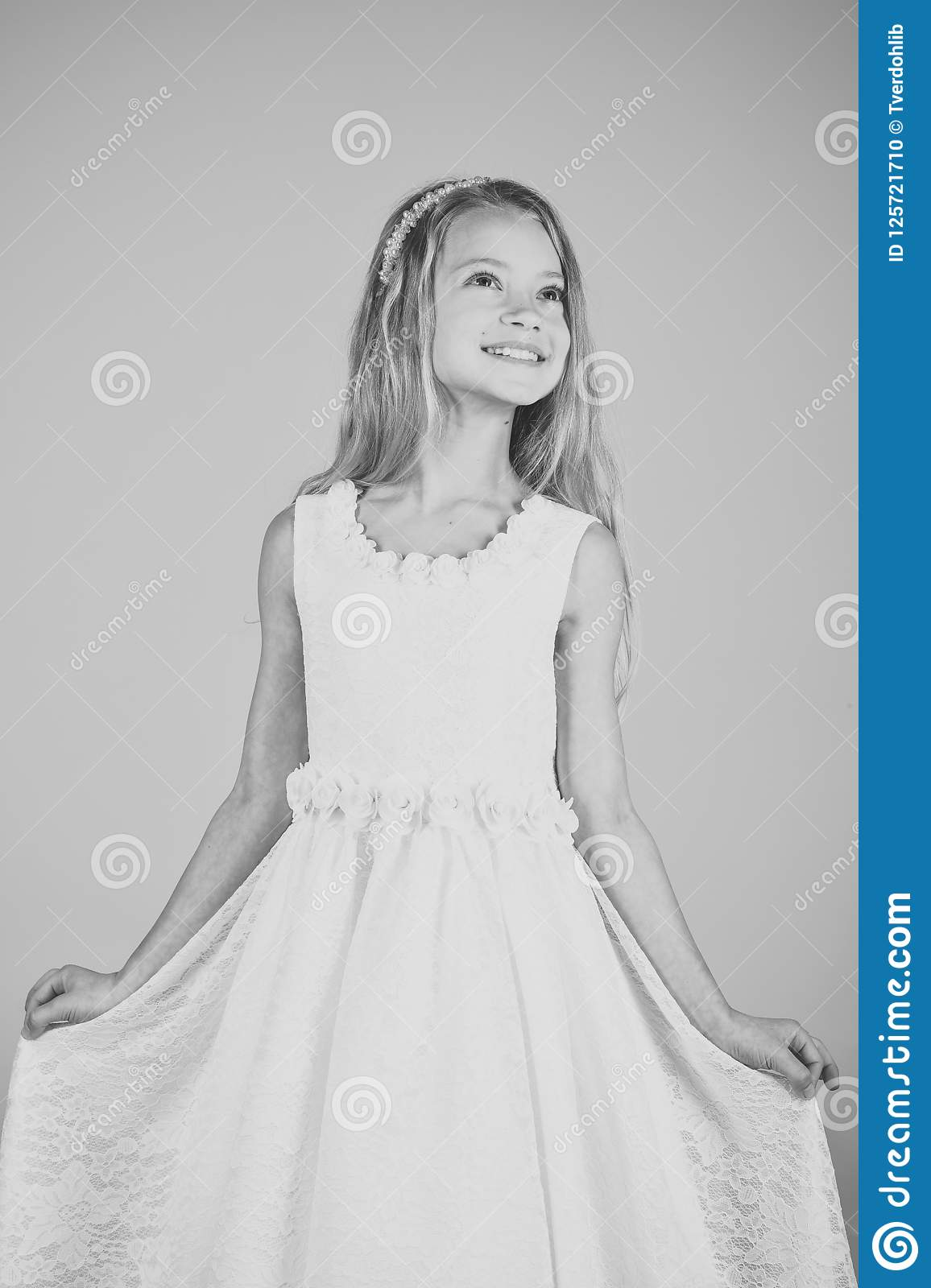 3a69e0407 Cute little baby girl fashion pretty model blonde curly lady hair funny  child birthday party fun
