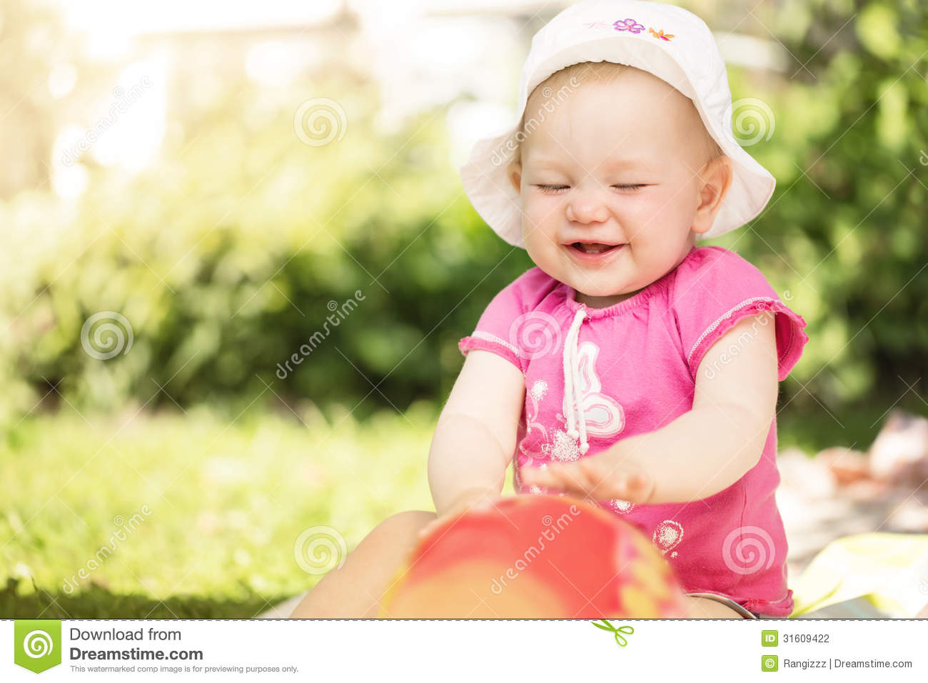 cute little baby girl stock photo. image of childhood - 31609422