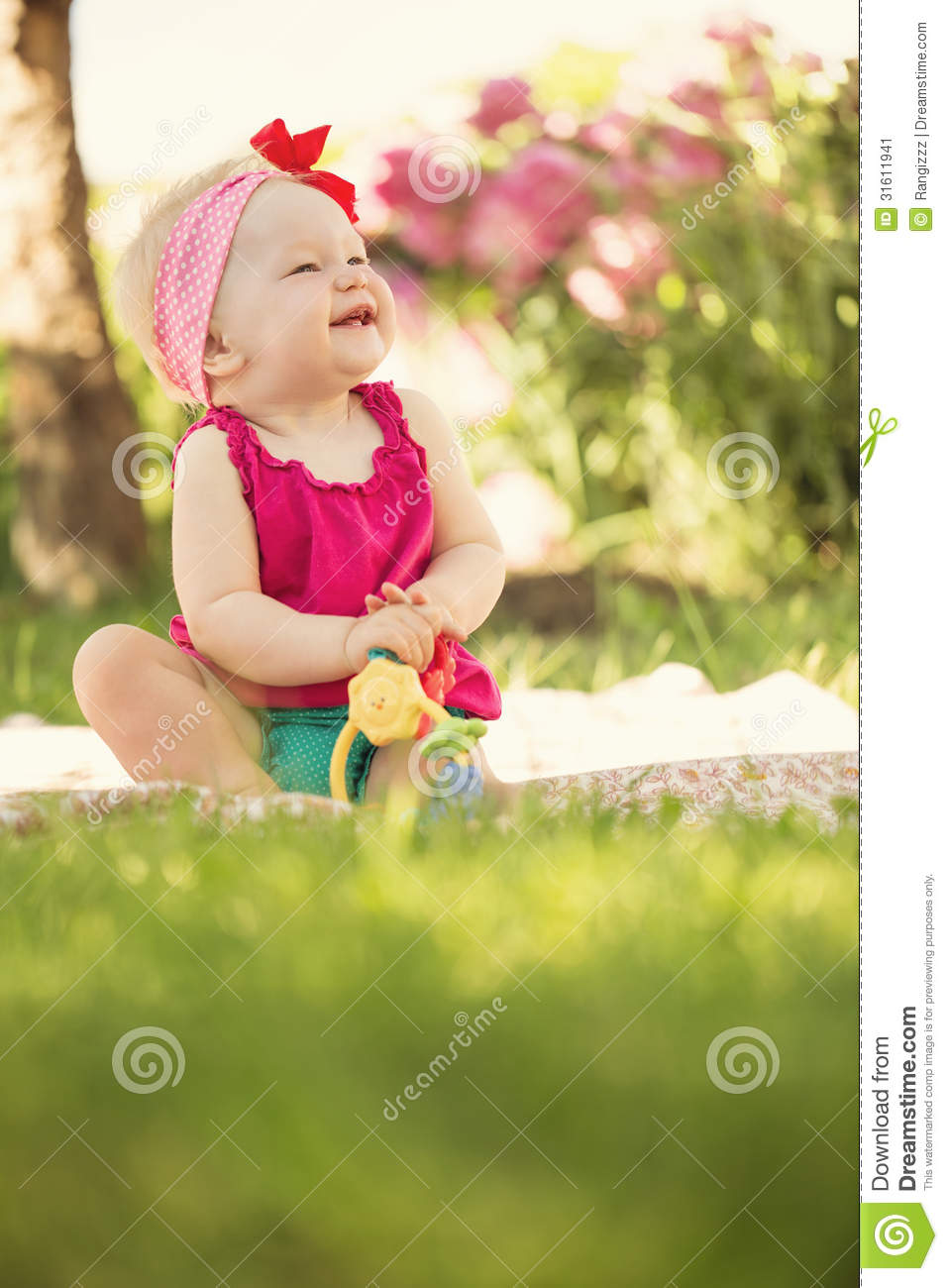 Cute Little Baby Girl Stock Image Image Of Funny Little