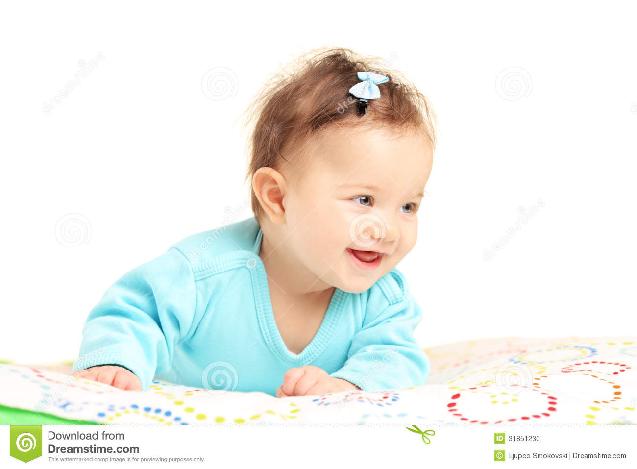 Cute Little Baby Girl Smiling Stock Photo Image 31851230