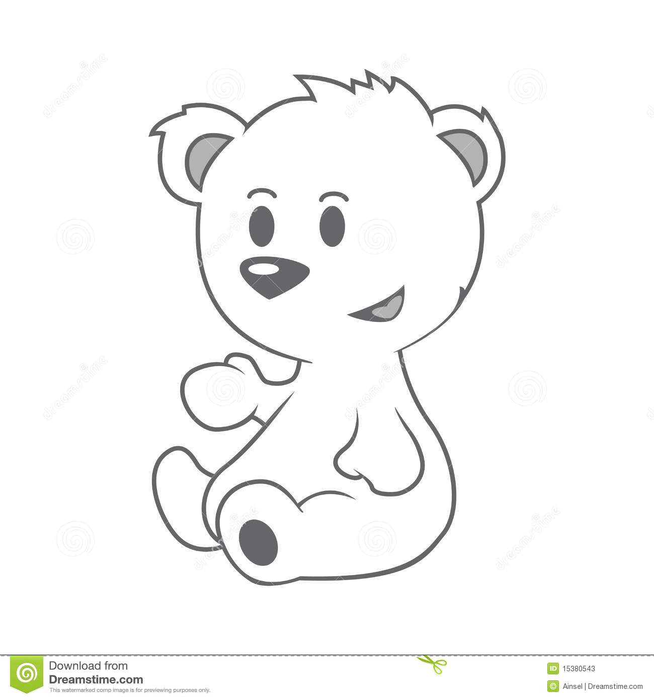 Cute Baby Polar Bear Drawing