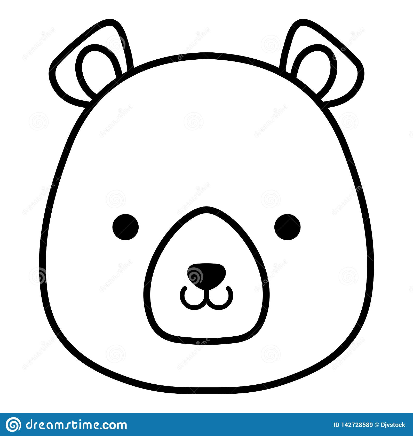 Cute and little bear character. Vector illustration design royalty free stock images