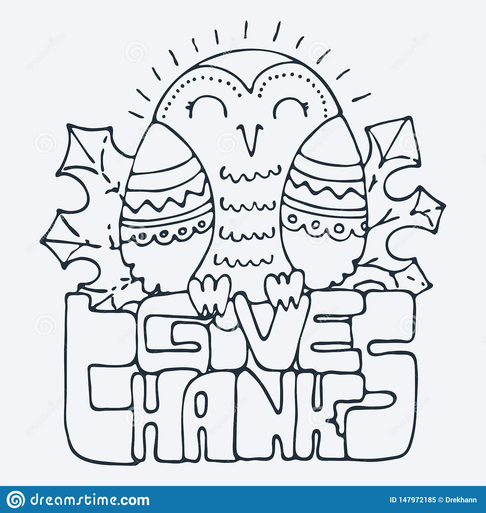 Cute Little Bird Cartoon Hand Drawn Vector Illustration Cute For Baby Coloring Pages T Shirt Print Fashion Prints And Other Stock Vector Illustration Of Cute Design 147972185