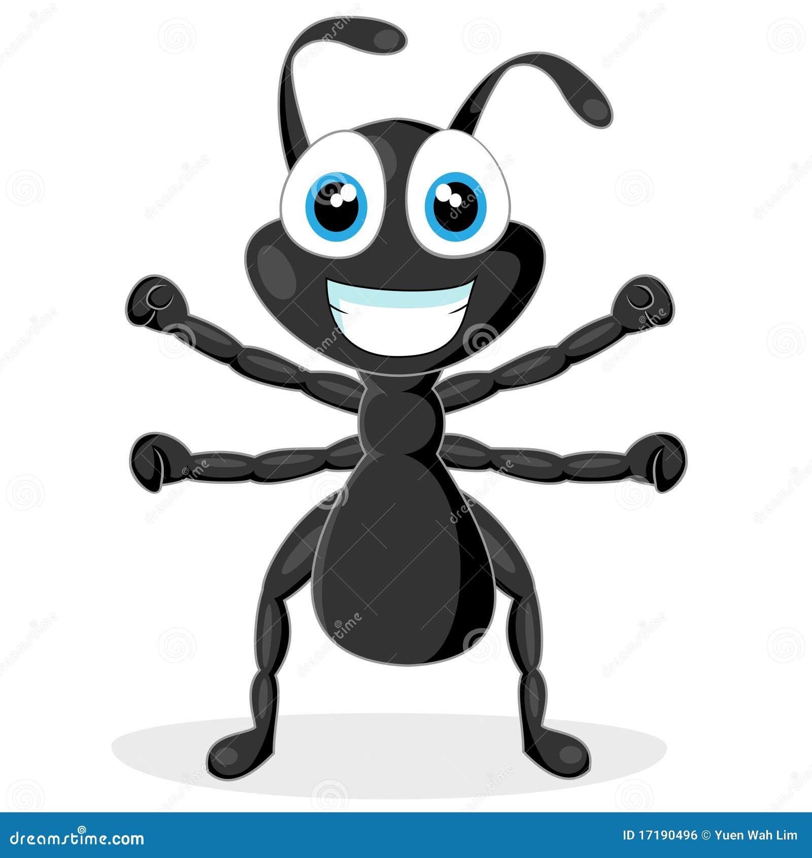 Cartoon black ants - photo#8