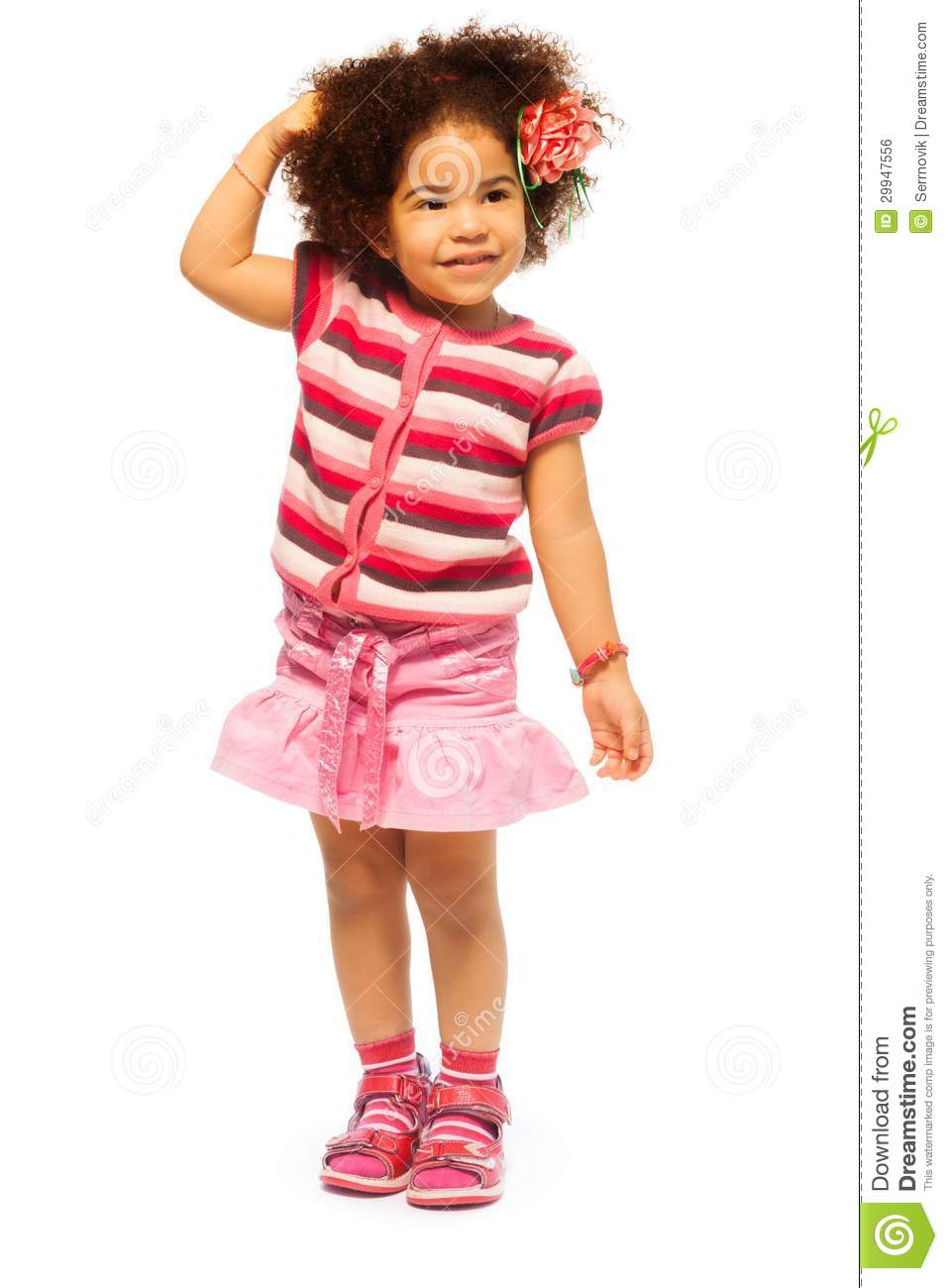 Beautiful 5 Years Old Black Girl Royalty Free Stock Image