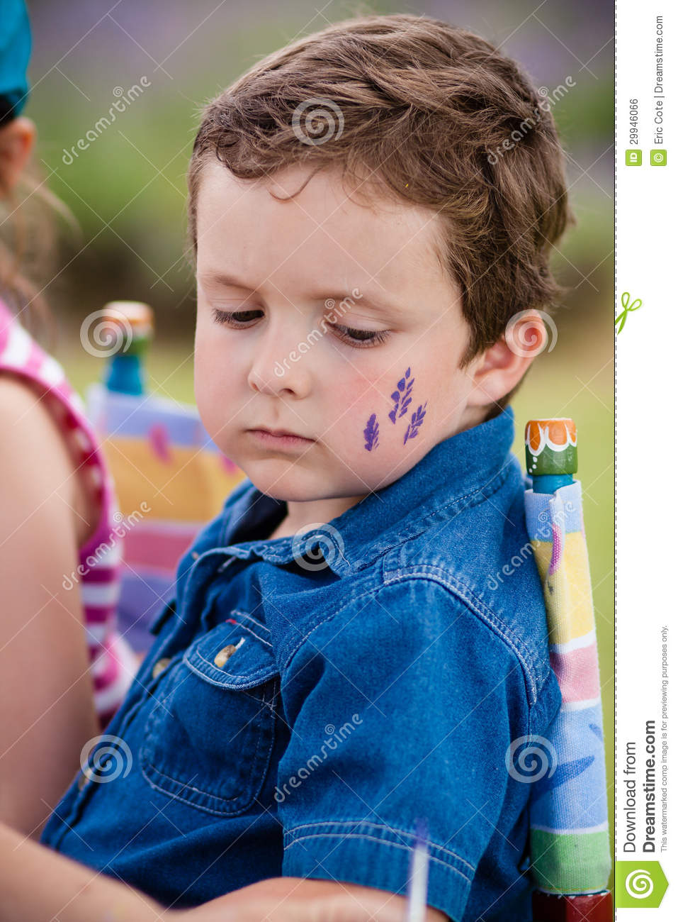 Drawing On The Face Royalty Free Stock Image Image 29946066