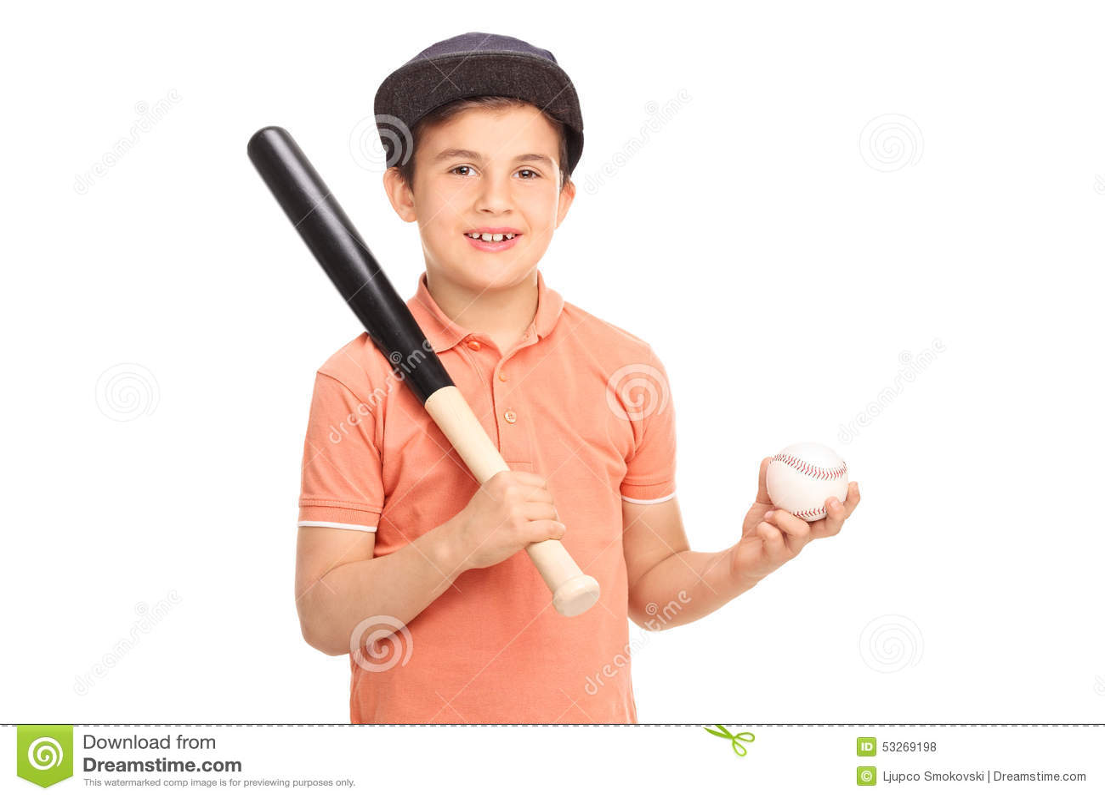 cheerful kid holding a baseball bat stock photo image 65612461