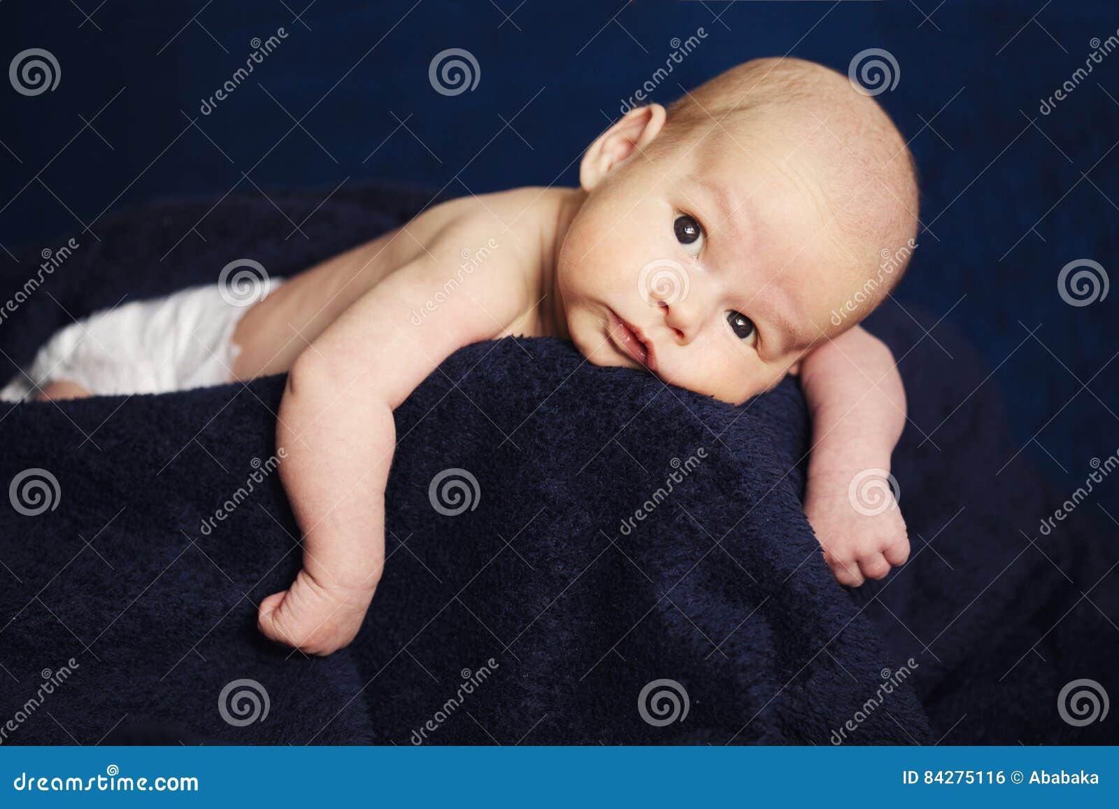 Cute little boy at home